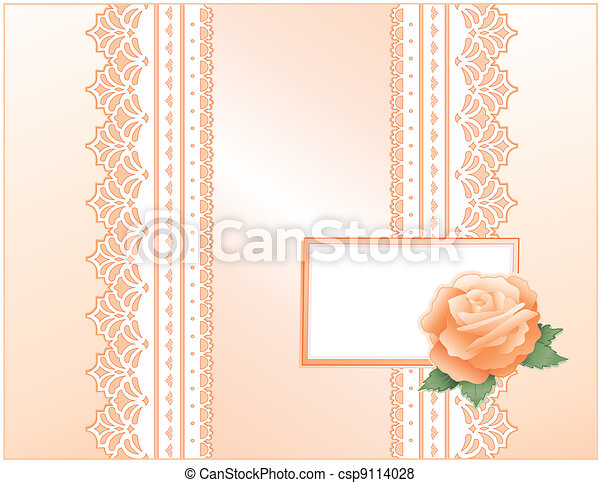 Lace, Satin, Heritage Rose, Card - csp9114028