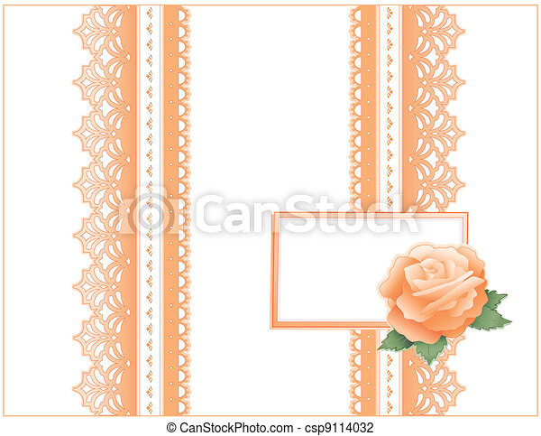 Antique Lace, Heritage Rose, Card - csp9114032