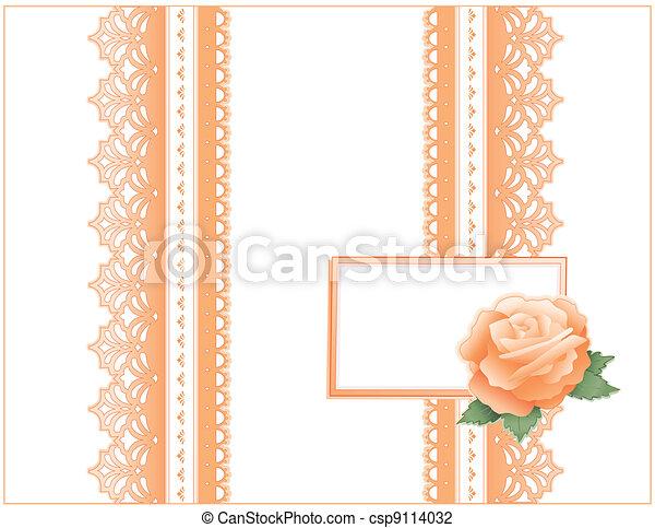 Antique Lace, Heritage Rose, Card - csp9114032