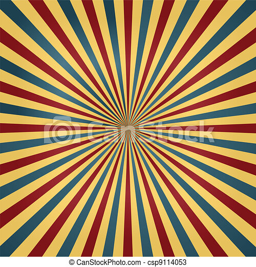 Circus Colors Sunburst Background - csp9114053