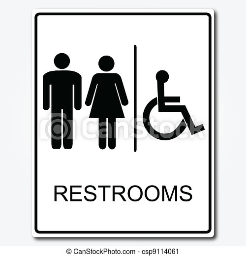 Restroom Sign Illustration - csp9114061