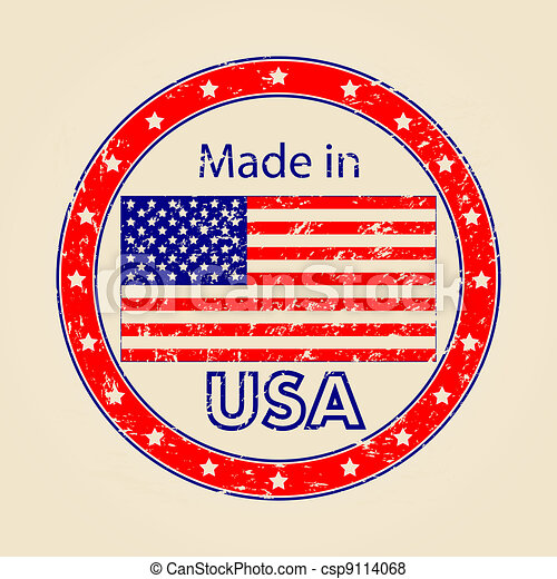 Vintage Made in USA Illustration - csp9114068