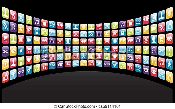 Iphone app icons background - csp9114161