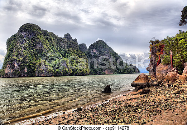 James Bond Island, Phang Nga, Thailand - csp9114278