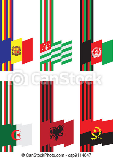 Ribbons with flags - csp9114847