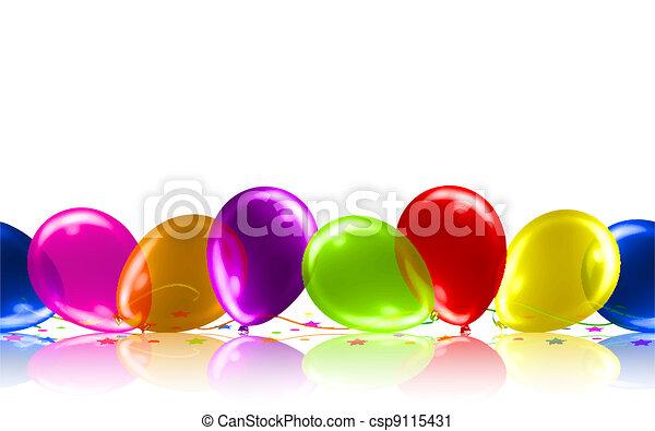 Beautiful Balloons on the Floor - csp9115431