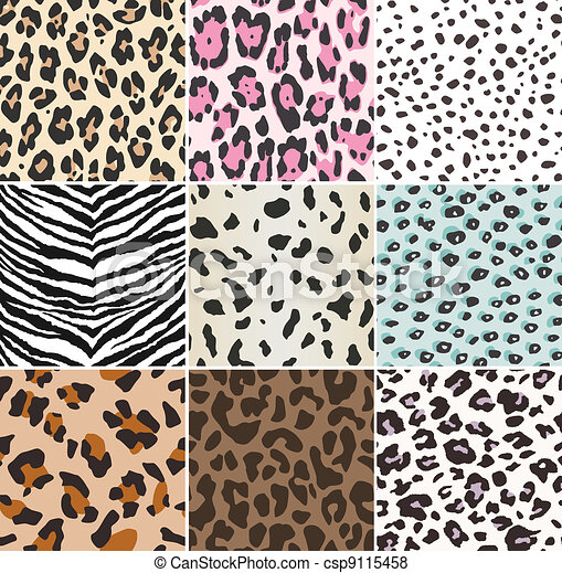 seamless animal print fabric - csp9115458