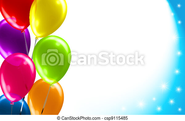 balloon, compleanno, fondo - csp9115485