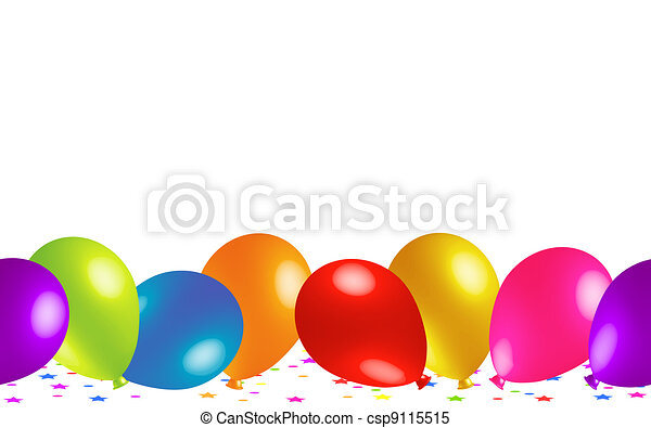 Cute Baloons on the Floor - csp9115515