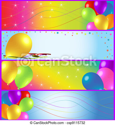 Half Banner Birthday Ads - csp9115732
