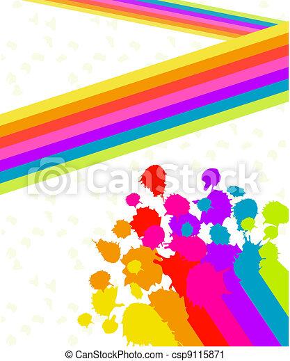 Paint Splatter Background - csp9115871