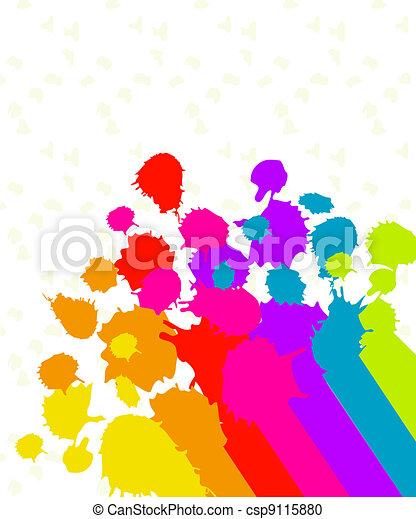 Paint Splatter Background   - csp9115880