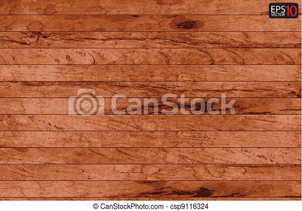 Vector wood plank background  - csp9116324