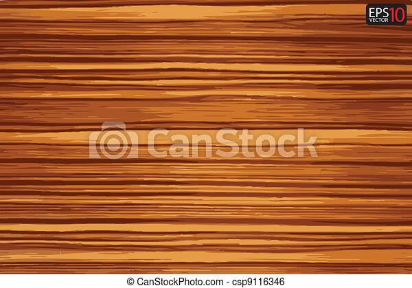 Vector wood plank background  - csp9116346