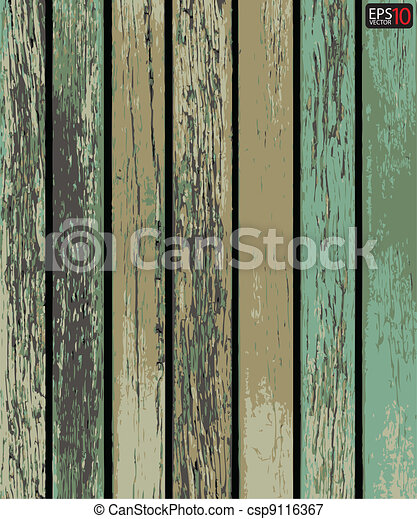 Vector wood plank background  - csp9116367