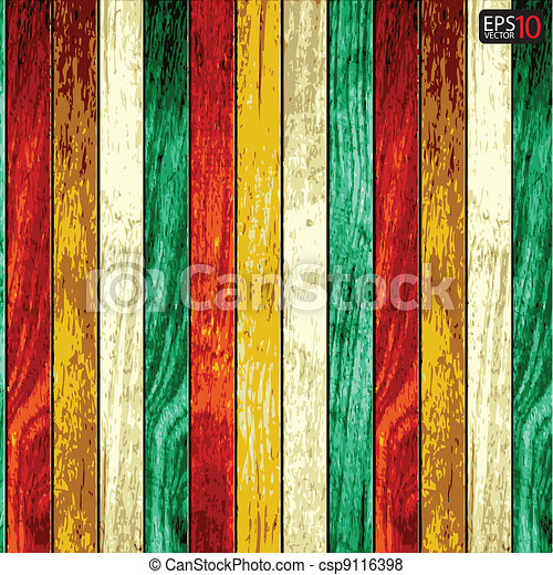 Vector wood plank background  - csp9116398