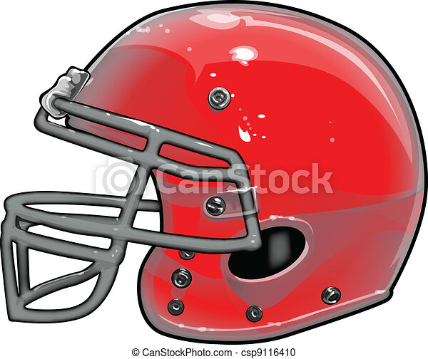 Football Helmet Vector Illustration - csp9116410