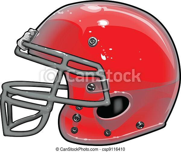 Football Helmet Vector Illustration - csp9116410