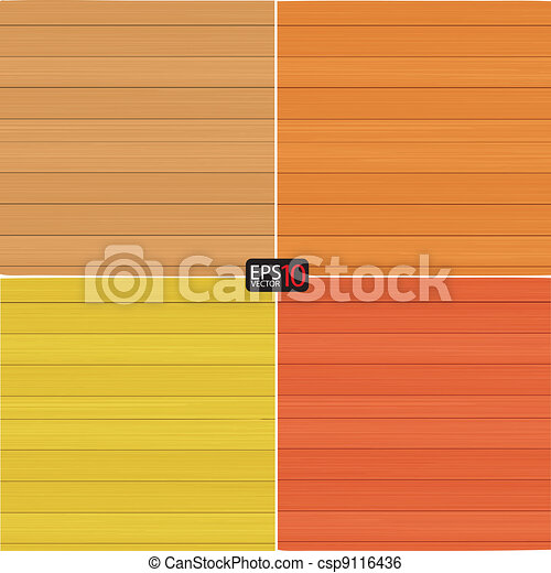 Vector wood plank background  - csp9116436