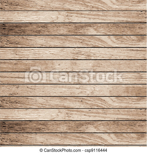 Vector wood plank background  - csp9116444