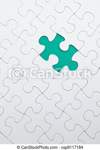 puzzle with green piece missed - csp9117184