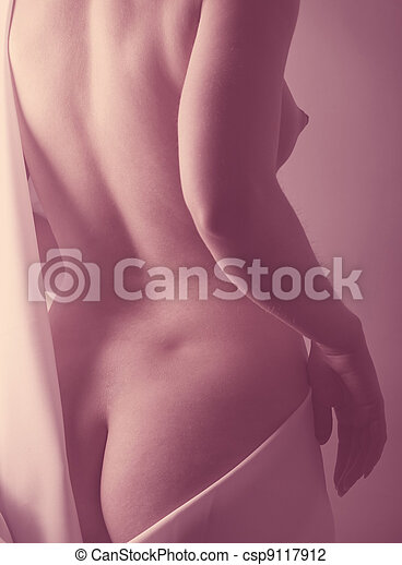 Adult pretty woman naked portrait - csp9117912