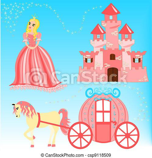 Fairytale cartoon illustration - csp9118509