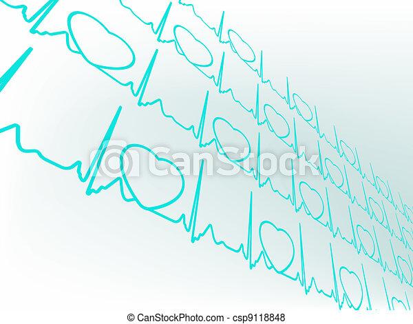 Separate group heart cardiogram. EPS 8 - csp9118848