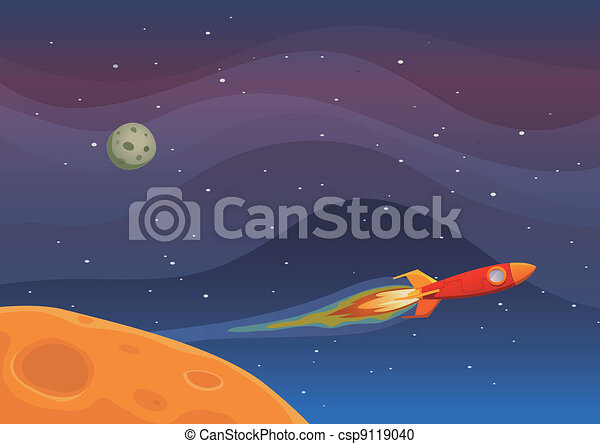 Spaceship Travel In Space - csp9119040