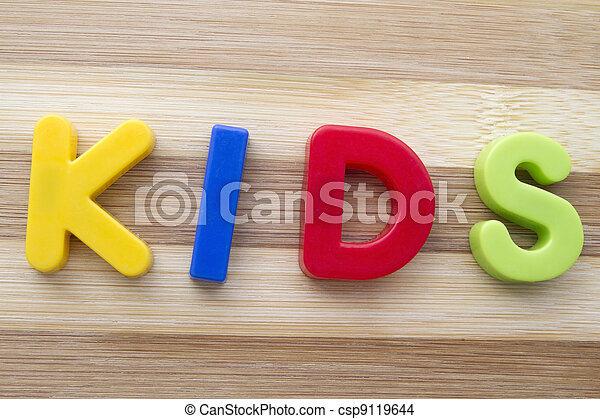 "Letter magnets ""KIDS"" - csp9119644"