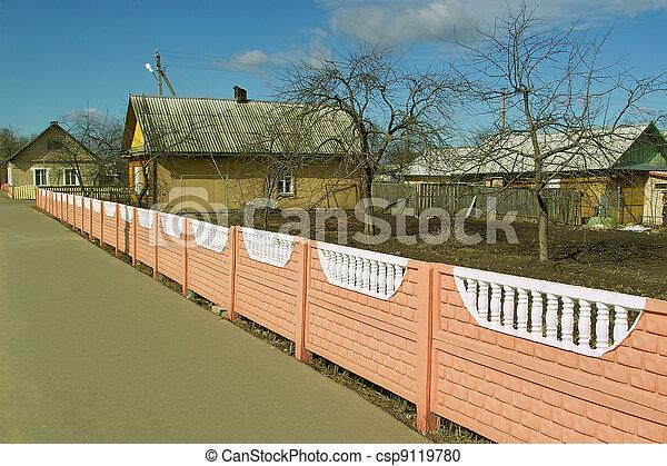 Bright fence - csp9119780