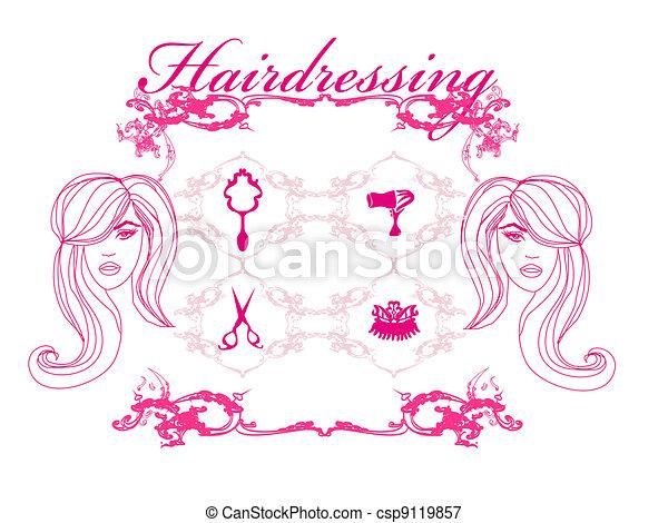 hairdressing salon - csp9119857
