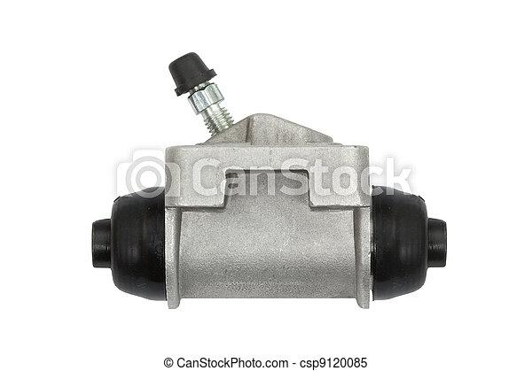New hydraulic cylinder brake drum (isolated) - csp9120085