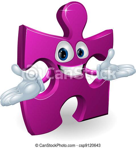 Jigsaw character - csp9120643