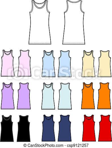 top tank linen garment - csp9121257
