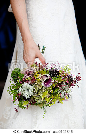 Bridal bouquet - csp9121346