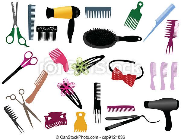 Hairdresser elements - csp9121836
