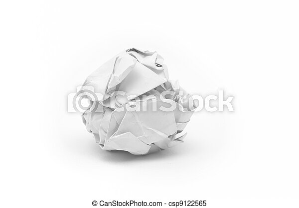 close-up of crumpled paper ball - csp9122565