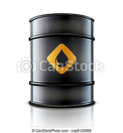 Metal oil barrel - csp9122969