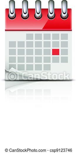 calendar icon - csp9123746
