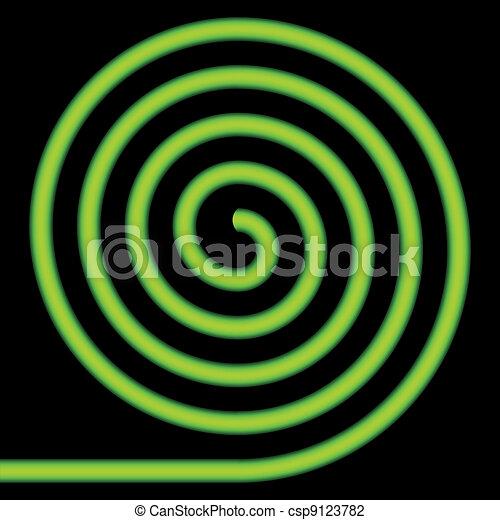 Green spiral. - csp9123782