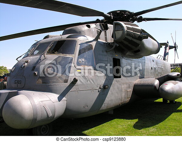 A military helicopter close-up  - csp9123880