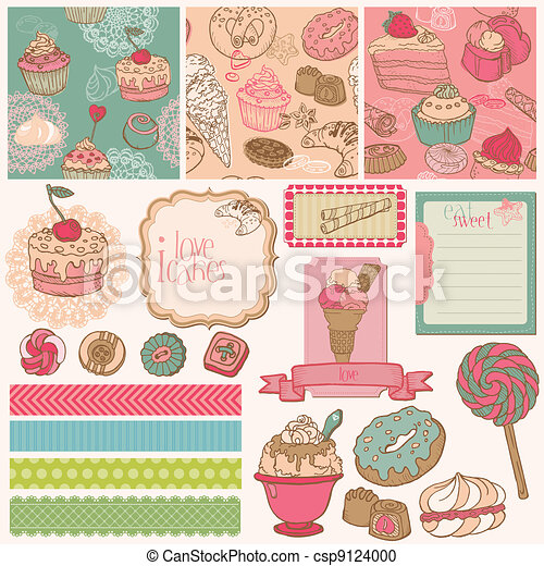 Scrap set with cakes and desserts - csp9124000