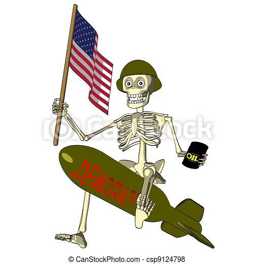 Democracy Or Oil   U.S. Soldier - csp9124798