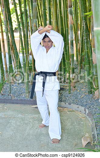 Karate stance - csp9124926