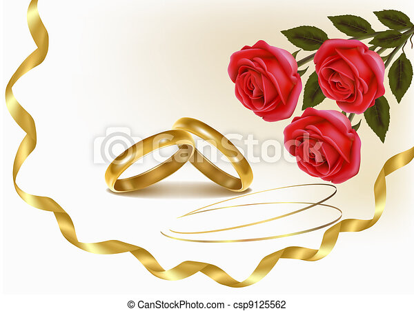 Background with wedding rings  - csp9125562