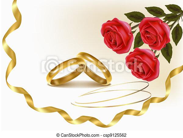 à, mariage, Anneaux - Banque dillustrations, illustrations libres de ...