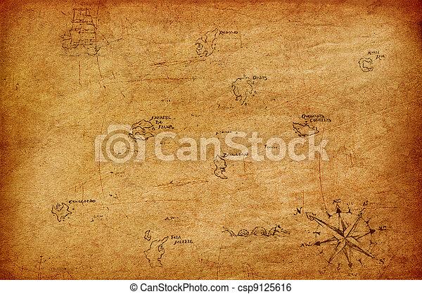 Antique map. - csp9125616