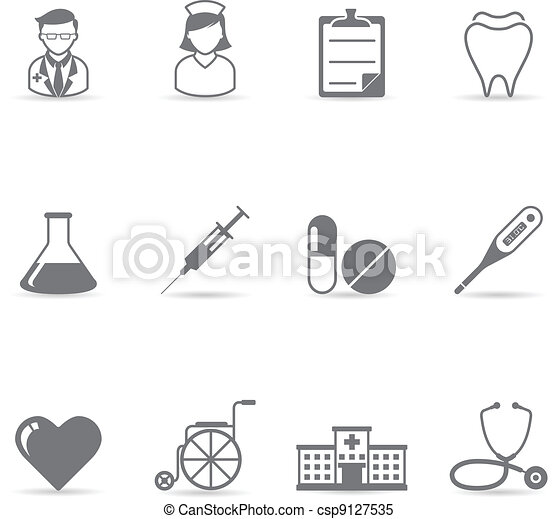 Single Color Icons -  Medical - csp9127535