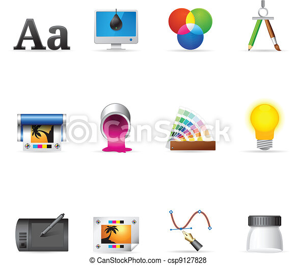 Web Icons - Printing & Graphic Desi - csp9127828